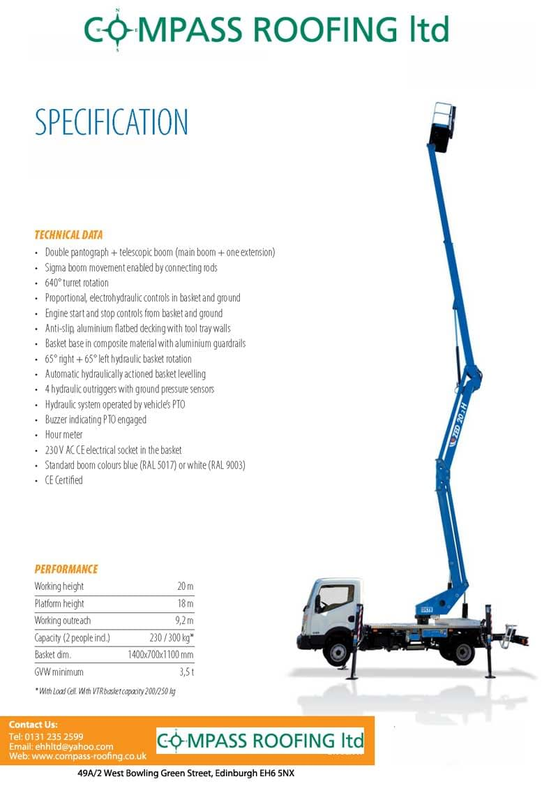 Commercial and Residential CHERRY PICKER HIRE IN EDINBURGH & CENTRAL SCOTLAND